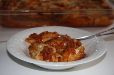 Stuffed Pasta Shells, Cherry Pineapple Crumble 028