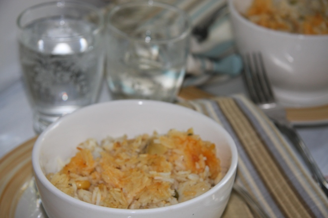 Chicken And Rice Casserole, Anytime Salad 022