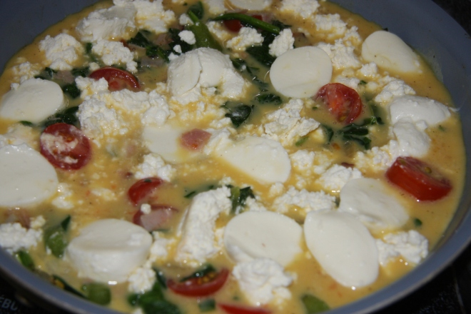 Frittata - Cheese, Spinach, Pepper and 015