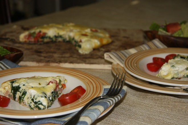 Frittata - Cheese, Spinach, Pepper and 017
