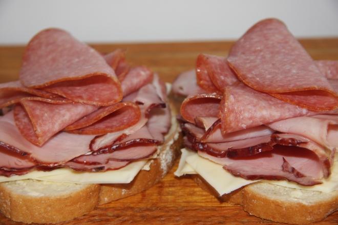 Ham, Salami And Cheese Panini 006