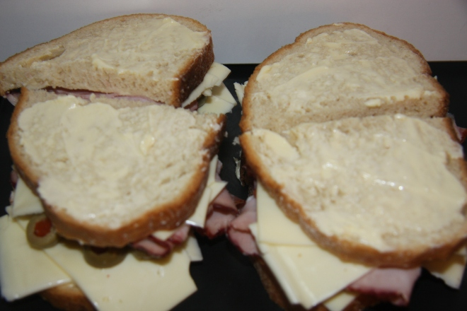 Ham, Salami And Cheese Panini 009