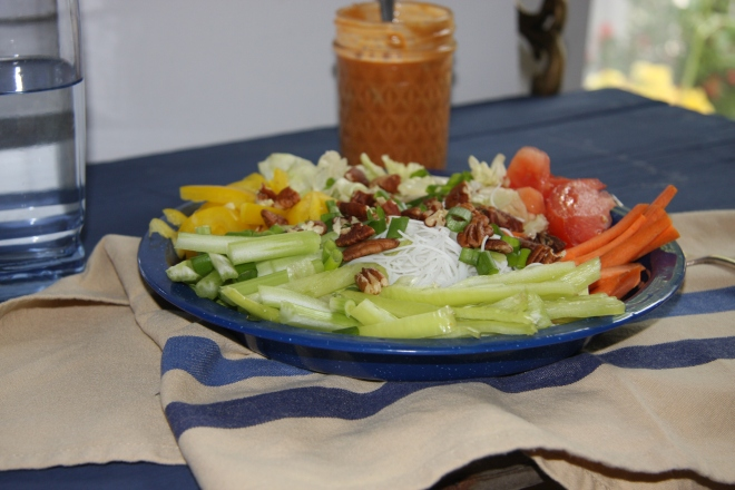 Rice Noodle Salad With Peanut Butter Dressing 007