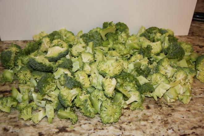 Brocolli Salad, Procuitto Sticks, Salami Sticks 002