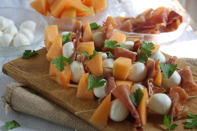 Brocolli Salad, Procuitto Sticks, Salami Sticks 012