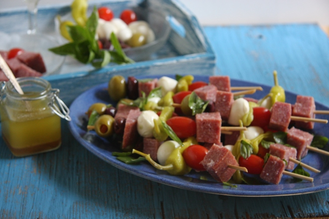 Brocolli Salad, Procuitto Sticks, Salami Sticks 022