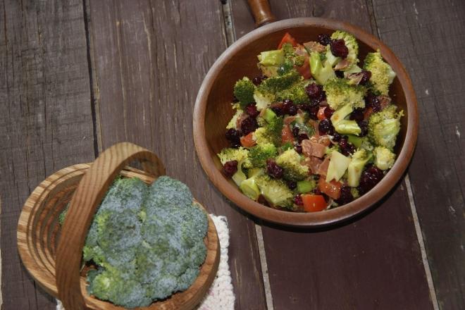 Brocolli Salad, Procuitto Sticks, Salami Sticks 027