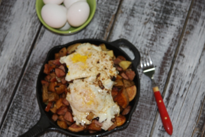 Kielbasa and Potato  Skillet 011