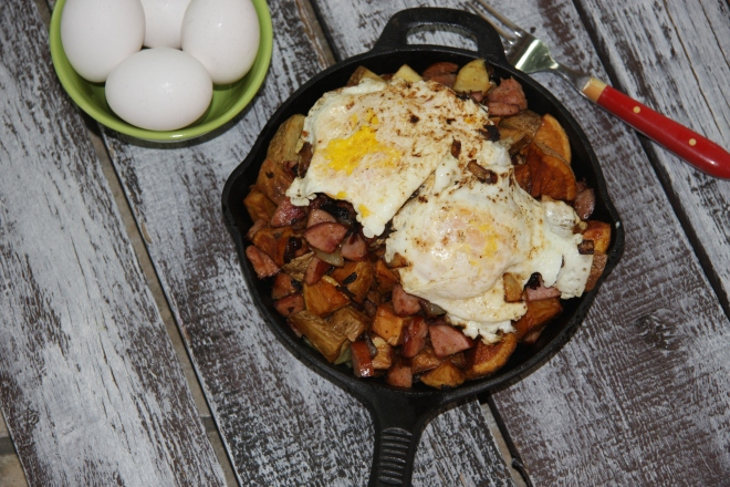 Kielbasa and Potato  Skillet 013