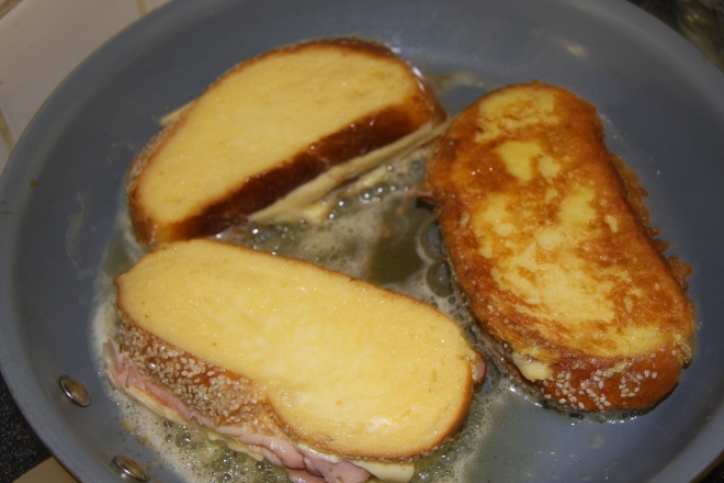 Monte Cristo Sandwiches, Iced Coffee, Daves Stuff 012