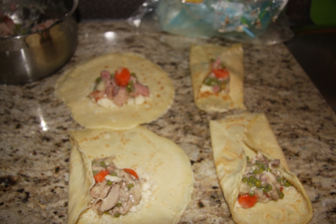Chicken And Ham Stuffed Crepes 018