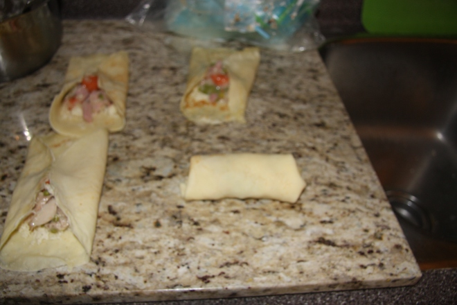 Chicken And Ham Stuffed Crepes 019