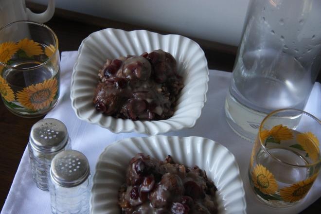 Cranberry Meatballs, Meatball Barley Soup, Garage Sale Stiff 036