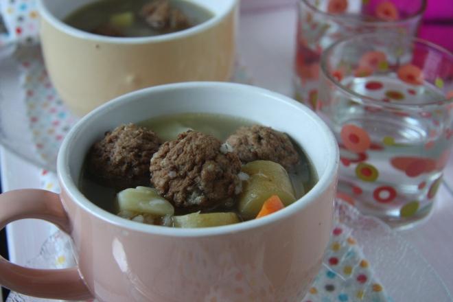 Cranberry Meatballs, Meatball Barley Soup, Garage Sale Stiff 045