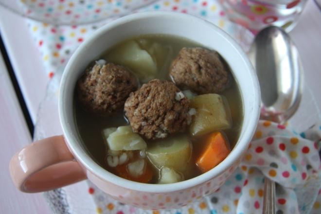 Cranberry Meatballs, Meatball Barley Soup, Garage Sale Stiff 047
