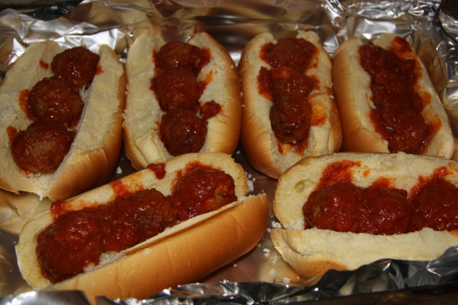 Beef Stuffed Tortillas, Super Easy Meatball Subs 006
