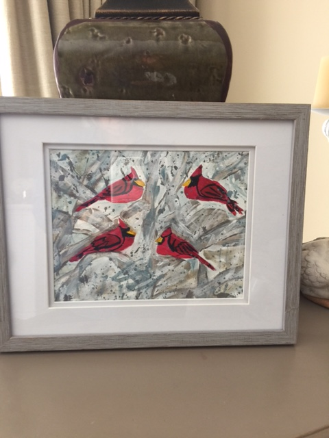 framed cardinals